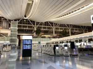 人がいない国際線ターミナル
